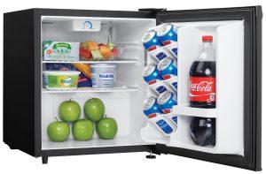 Danby Refrigerator DAR016A1BDB Right Propped