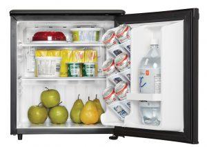 Danby Refrigerator DAR017A2BDD INTERIOR PROPPED
