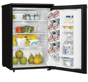 Danby Refrigerator DAR026A1BDD INTERIOR PROPPED RIGHT
