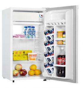 Danby Compact Refrigerator DCR032A2WDD INTERIOR PROPPED Custom
