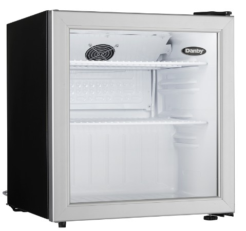 1.6 cu.ft. Danby Compact All Refrigerator with Glass Door DAG016A1BDB